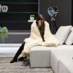 Manta Pequena 0,90×1,20m – Tricot Gigante Lã Merino Premium