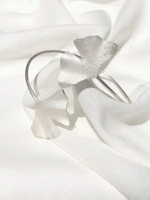 Bracelete Prata Botânica Ginko II
