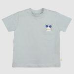 Camiseta Infantil Cinza Com Bolso