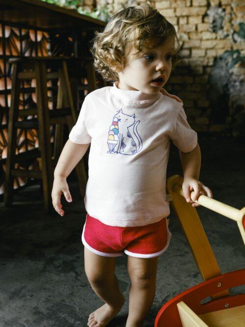 Camiseta Bebê Rosa