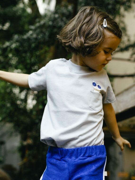 Camiseta Infantil Cinza 1