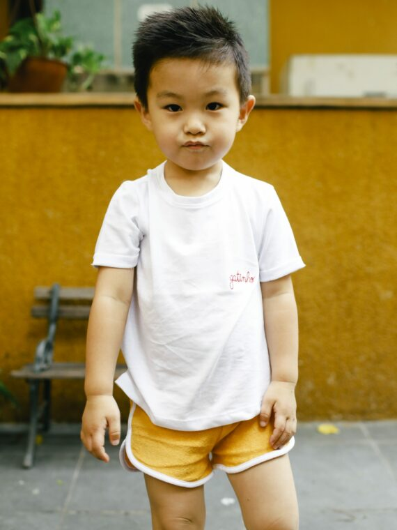 Camiseta Infantil Gatinho 1