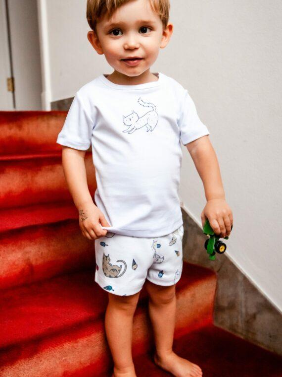 Pijama Infantil Gato Grande 1