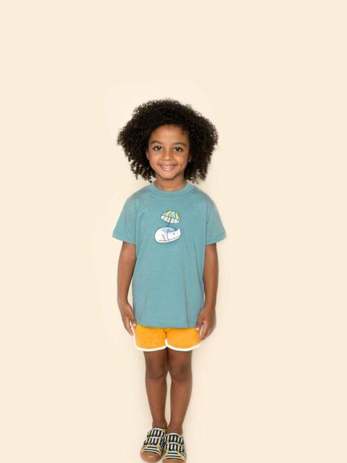 Camiseta Infantil Verde
