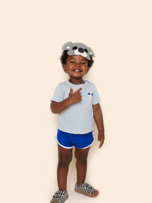Camiseta Bebê Cinza Com Bolso