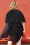 Kimono Tule Plus Size Preto