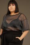 Camiseta  Lux Tule Brilho Plus Size