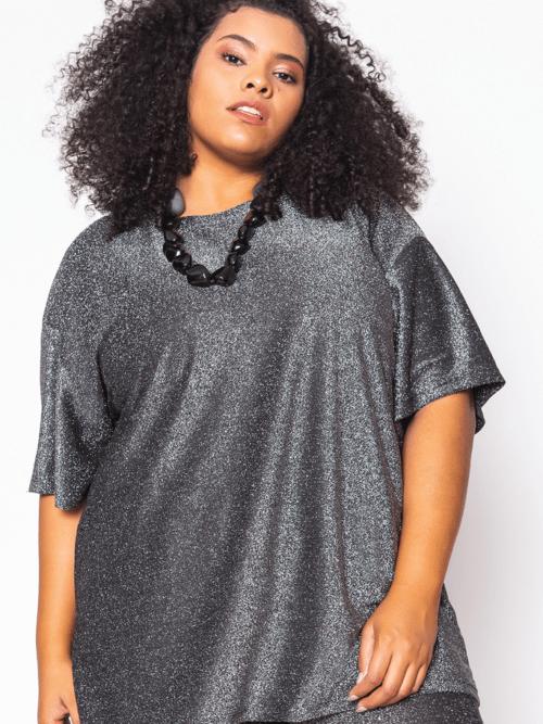 Camiseta Glow Brilho Plus Size
