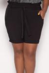 Shorts Paperbag Preto Plus Size