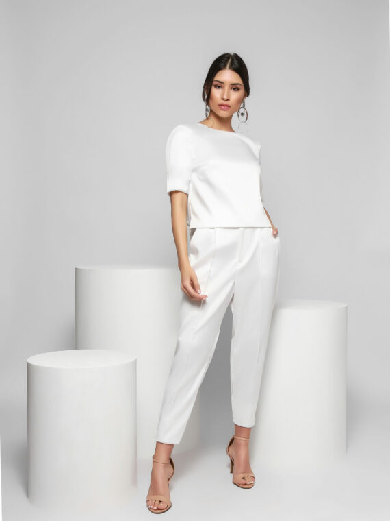 23 Calça Social Branca – Frente