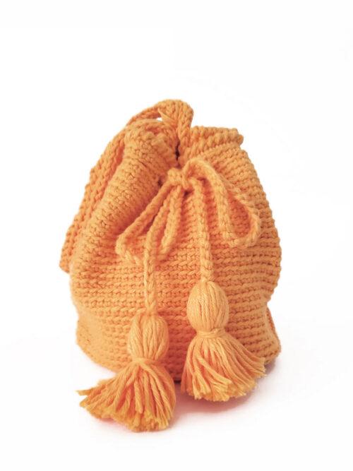 Bolsa Saco Ivone em Crochê – Amarelo