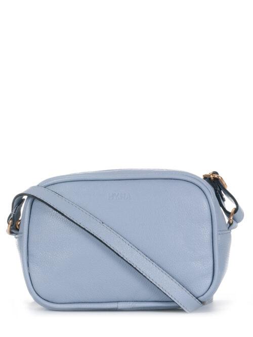 Bolsa Transversal em Couro Legítimo cor Azul Candy Color