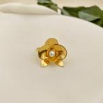 Anel Mini Orquídea Prata Banho Ouro 18k