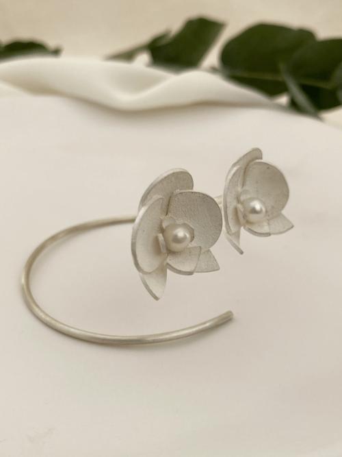 Bracelete Mini Orquídea Prata Jardim