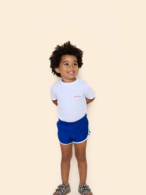 Short Bebê Atoalhado Azul