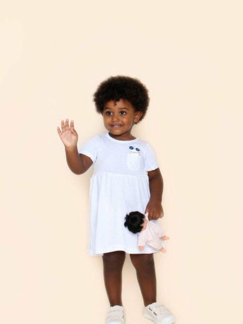 Vestido Bebê Branco Gatinho